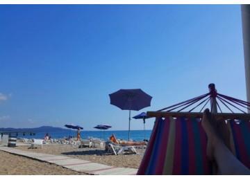 Собственный пляж | Пансионат «Водопад»|Абхазия, Новый Афон